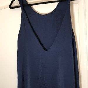 NWT Lucca Couture Ruffle Bottom Navy Dress